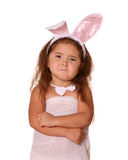 滑稽兔宝宝的子项 免版税库存图片