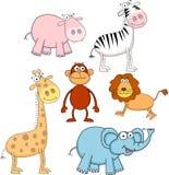 滑稽动物的动画片 免版税库存图片