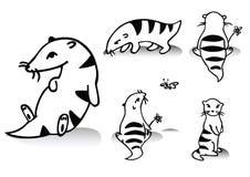 滑稽动物的动画片 库存照片
