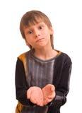 滑稽叫化子的男孩 免版税图库摄影