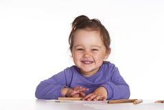 滑稽婴孩的图画 图库摄影