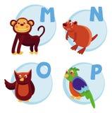 滑稽字母表的动画片 图库摄影