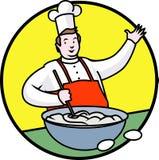 滑稽快乐的厨师 免版税库存照片
