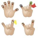 滑稽手指的朋友 库存例证