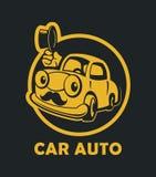 滑稽汽车的动画片 库存例证