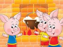 滑稽猪吮 库存照片