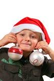 滑稽男孩的圣诞节 免版税库存图片