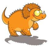 滑稽的三角恐龙 库存图片