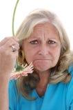 滑稽的不快乐的妇女 免版税库存图片