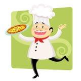滑稽的主厨 免版税库存图片