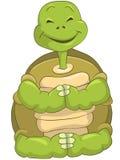 滑稽的乌龟 免版税库存照片