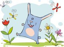 滑稽的兔宝宝 免版税图库摄影