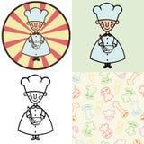 滑稽的动画片厨师 向量例证