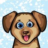 滑稽的动画片狗 免版税库存图片