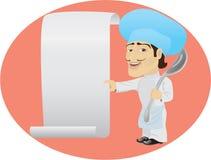 滑稽的厨师 免版税库存照片