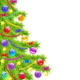 滑稽的圣诞树 免版税库存图片