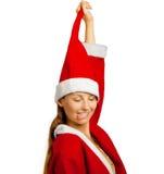 滑稽的圣诞老人辅助工 免版税库存图片