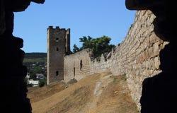 滑稽的城堡feodosia 免版税图库摄影