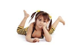 滑稽的女孩一点 免版税库存照片