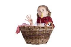 滑稽的女孩少许可爱的纵向 免版税库存图片