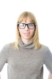 滑稽的女孩年轻人 免版税库存照片