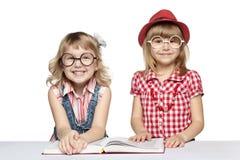 滑稽的女小学生 免版税库存图片
