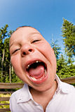 滑稽的孩子 免版税库存图片