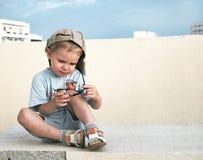 滑稽的孩子 免版税库存照片