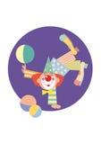 滑稽的小丑 向量例证