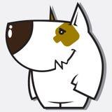 滑稽的小狗字符。 图库摄影