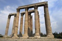 滑稽的希腊纪念碑 库存照片