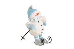 滑稽的幽默雪人 免版税库存照片