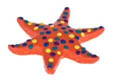 滑稽的彩色塑泥海星 免版税库存照片