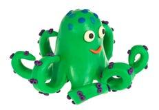 滑稽的彩色塑泥章鱼 图库摄影