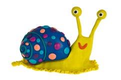 滑稽的彩色塑泥蜗牛 图库摄影