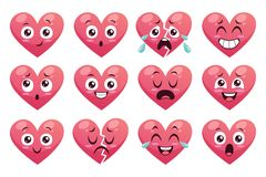 滑稽的意思号心脏的汇集 免版税库存图片