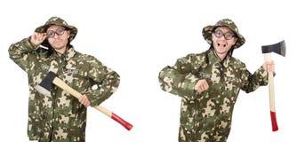 滑稽的战士照片拼贴画  免版税图库摄影