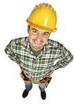 滑稽的手工纵向工作者 免版税库存照片