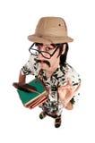 滑稽的探险家或考古学家 免版税库存照片