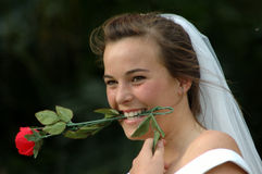 滑稽的新娘 免版税库存照片