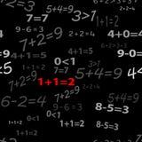滑稽的无缝数学墙纸 免版税库存图片