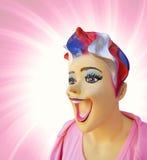 滑稽的时装模特 免版税库存照片