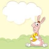 滑稽的桃红色兔子 库存图片