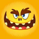 滑稽的橙色妖怪面孔 也corel凹道例证向量 万圣夜动画片妖怪 皇族释放例证