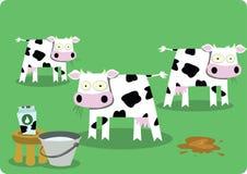 滑稽的母牛 免版税库存照片