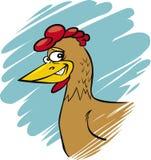 滑稽的母鸡 库存图片