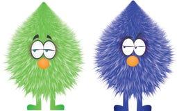 滑稽的毛茸的chraracters传染媒介设计 皇族释放例证