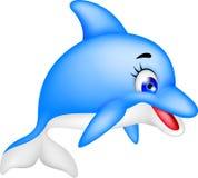 滑稽的海豚动画片 免版税库存图片
