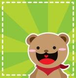 滑稽的熊 免版税库存图片