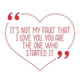 滑稽的爱行情 它` s没有我的缺点我爱你 您是 向量例证